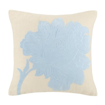 Vanderbilt Flower Hooked Wool Throw Pillow