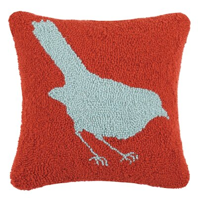 Vanderbilt Bird Hooked Wool Throw Pillow
