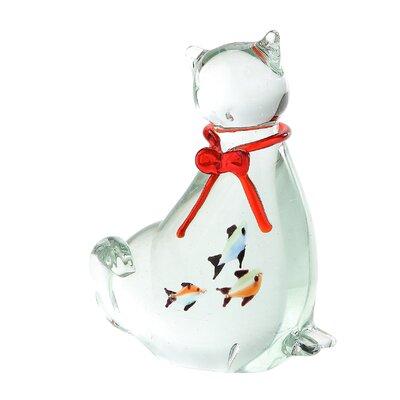 Glass Cat Figurine 58091