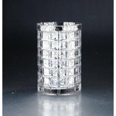 """Vase Color: Silver, Size: 7.5"""" H x 5"""" W x 5"""" D 57050"""