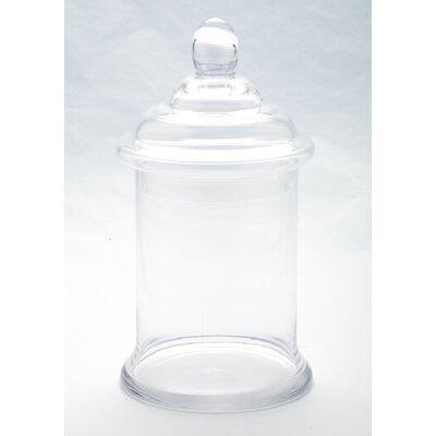 Apothecary Jar Size: 13 H x 6.5 W x 6.5 D