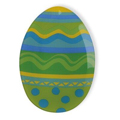 Boston International Easter Egg Tempered Serving Tray