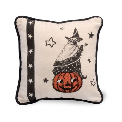 Witch Halloween Throw Pillow