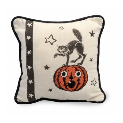 Cat Halloween Throw Pillow