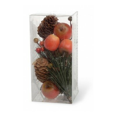 Small Red Apple/berry/pinecone Decorative Vase Filler