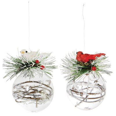 Winter Birds Shaped Ornament KAX17361