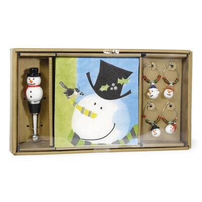 Tophat Snowman Wine charm THLA8454 40925541