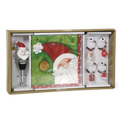 Jolly Santa Wine charm THLA8455 40925544