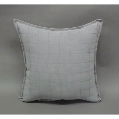 Mendon Embossed Suede Toss Throw Pillow Color: Silver