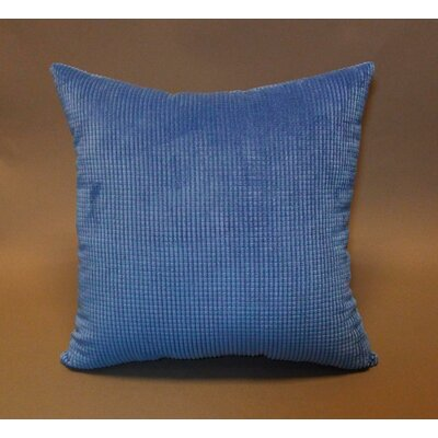 Perry Textured Woven Toss Throw Pillow Color: Blue