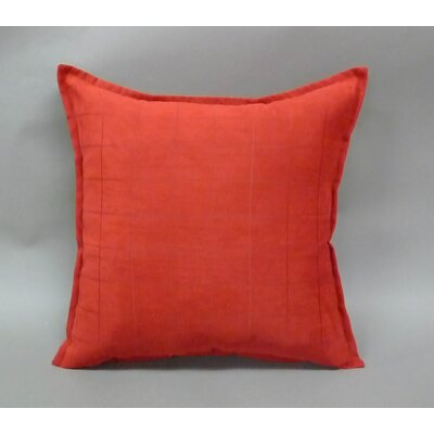 Mendon Embossed Suede Toss Throw Pillow Color: Brick Red