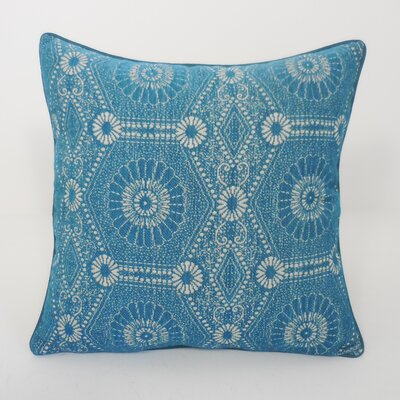 Heston Chenille Medallion Toss Throw Pillow Color: Teal