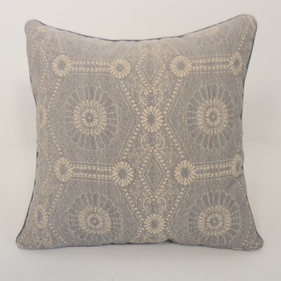 Heston Chenille Medallion Toss Throw Pillow Color: Silver