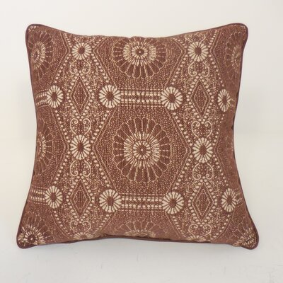 Heston Chenille Medallion Toss Throw Pillow Color: Chocolate