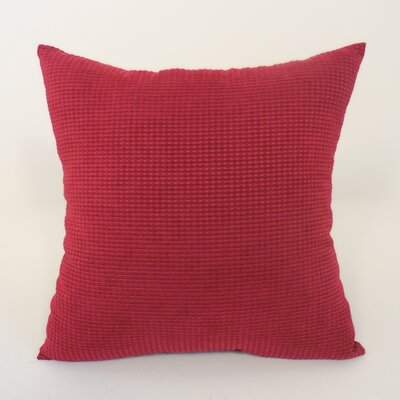 Kaylee Textured Woven Toss Throw Pillow Color: Brick Red
