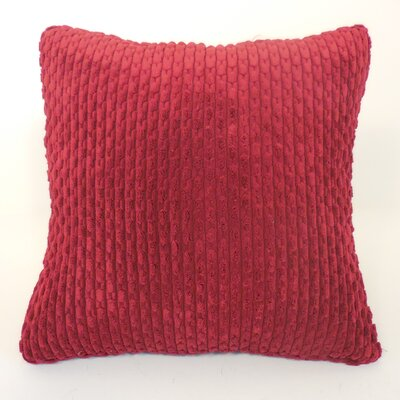 Scarlett Ribbed Plush Toss Throw Pillow Color: Wine