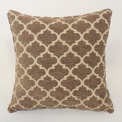 Sandglass Chenille Geometric Toss Throw Pillow Color: Tan