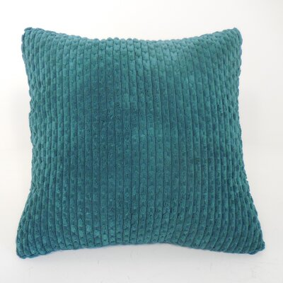 Scarlett Ribbed Plush Toss Throw Pillow Color: Emerald