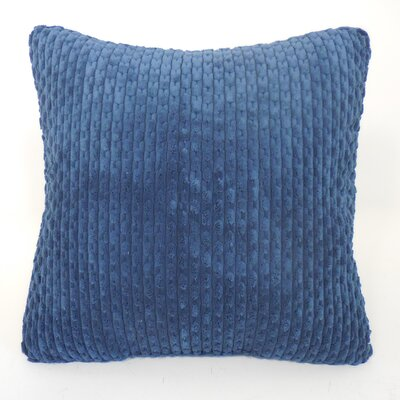 Scarlett Ribbed Plush Toss Throw Pillow Color: Sapphire