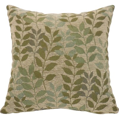 Rusty Chenille Leaf Toss Throw Pillow