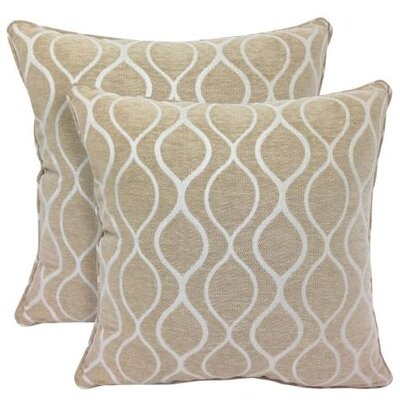 Gemma Chenille Geometric Toss Throw Pillow Color: Bamboo