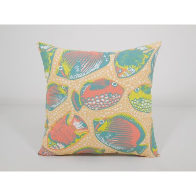 Coastal Key Pez Toss Throw Pillow Color: Linen White