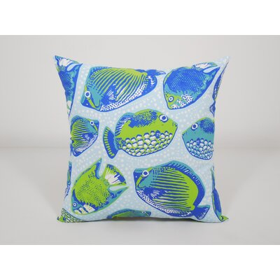 Coastal Key Pez Toss Throw Pillow Color: Blue