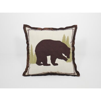 Coastal Bear Frame Toss Throw Pillow