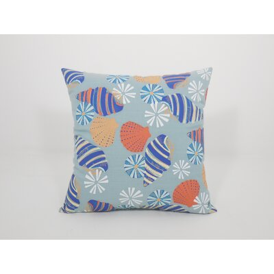 Coastal Seashelle Toss Throw Pillow