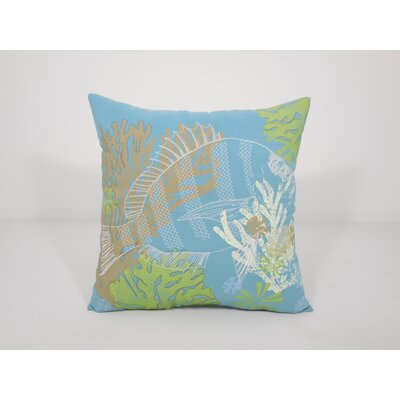 Coastal Fish Toss Throw Pillow