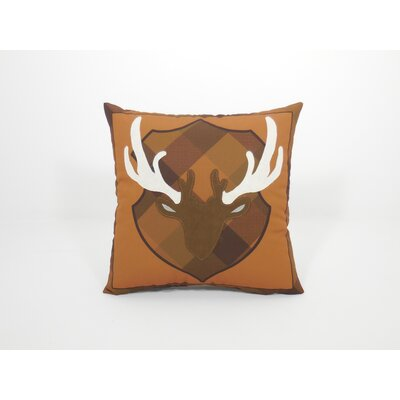 Coastal Deer Head Toss Throw Pillow