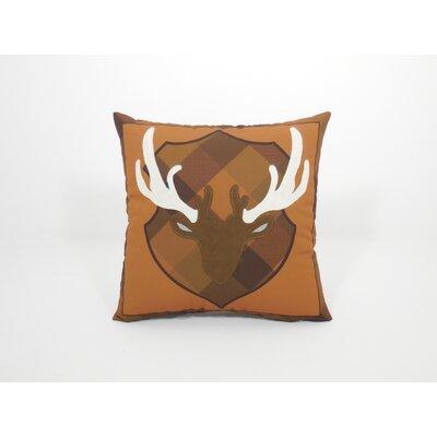 Coastal Deer Head Toss Throw Pillow