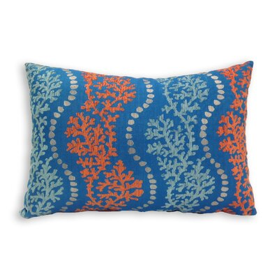 Coastal Coral Garden Toss Lumbar Pillow