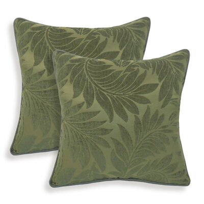 Petra Chenille Leaves Jacquard Toss Throw Pillow Color: Olive