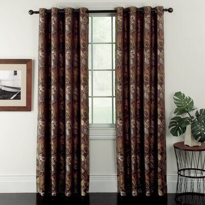 Window Accents Ganset Curtain Panel (Set of 2) - Size: 63