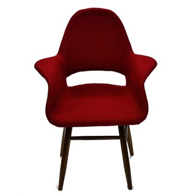 Arm Chair Upholstery: Red
