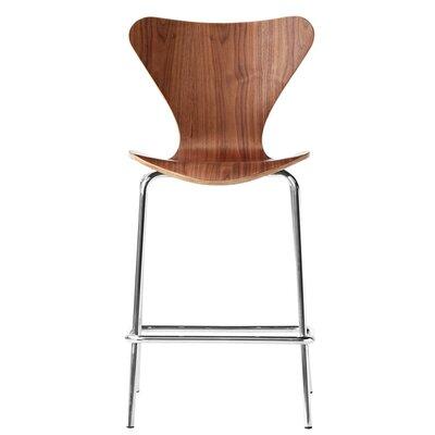 Jays 26 Bar Stool Upholstery: Walnut