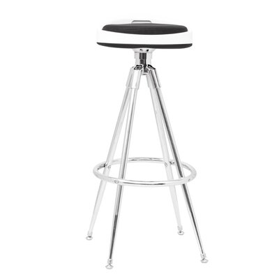 Sculpt Adjustable Height Swivel Bar Stool Upholstery: Black