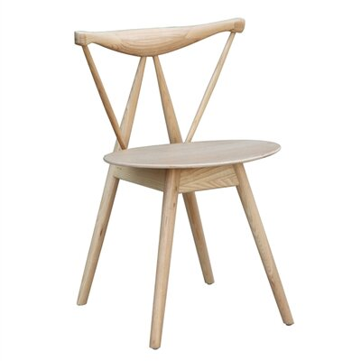 Fronter Solid Wood Dining Chair Color: Natural