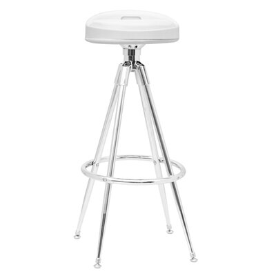Sculpt Adjustable Height Swivel Bar Stool Upholstery: White