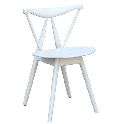Fronter Solid Wood Dining Chair Finish: White
