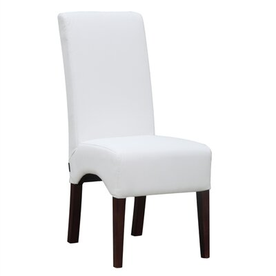 Dinata Genuine Leather Upholstered Dining Chair Upholstery: White