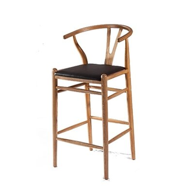 Woodstring 30 Bar Stool Frame Finish: Walnut