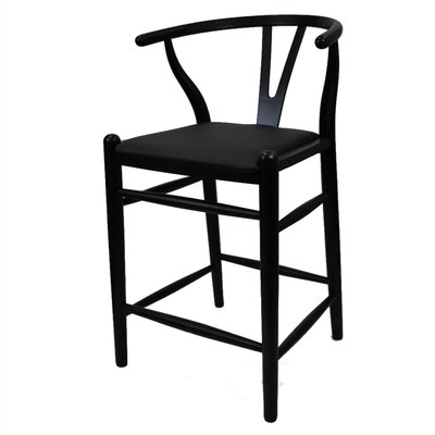 Woodstring 25 Bar Stool Color: Black