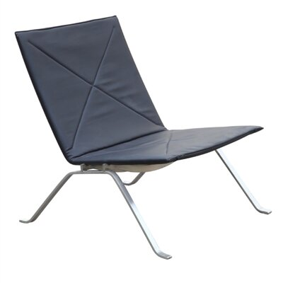 Pika 22 Lounge Chair Upholstery: Black