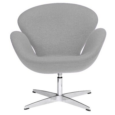 Swan Swivel Armchair Upholstery: Light Gray