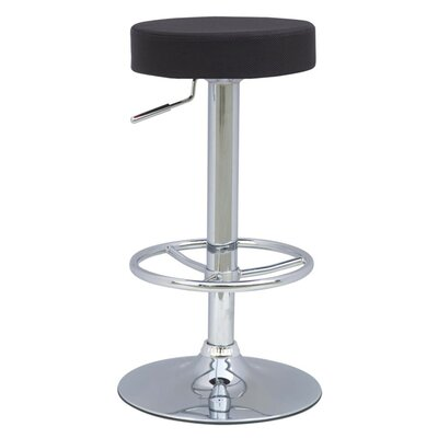 Ex Adjustable Height Swivel Bar Stool Upholstery: Black