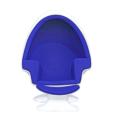 Alpha Egg Lounge Chair And Ottoman Color: Blue
