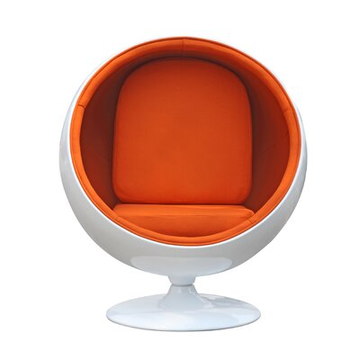 Ball Side Chair Upholstery: Orange