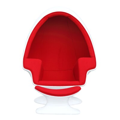Alpha Lounge Chair Upholstery: Red